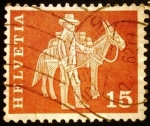 Stamps Europe - Switzerland -  Sumpter with mule