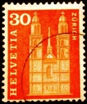 Stamps Europe - Switzerland -  Monumentos. Grossmunster in Zurich