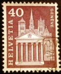 Stamps Europe - Switzerland -  St. Pierre Cathedral, Geneva