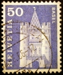 Stamps Europe - Switzerland -  Puerta de Spalen, Basilea
