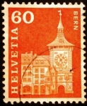 Stamps Europe - Switzerland -  Reloj de la torre en Berna