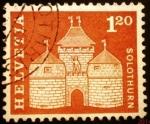 Stamps Europe - Switzerland -  Puerta de Basilea en Solothurn
