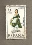 Stamps Spain -  Trajes regionales, Lérida