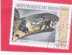 Stamps : Africa : Benin :  serpiente