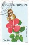 Stamps : Africa : São_Tomé_and_Príncipe :  Mariposa