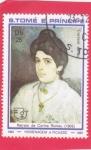 Stamps São Tomé and Príncipe -  RETRATO  DE CORINA ROMEU