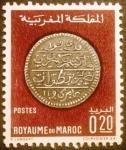 Sellos de Africa - Marruecos -  Monedas antiguas. Silver 40 Dirhams