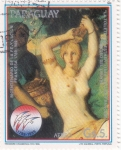 Stamps Paraguay -  El toilette de Esther (1841)