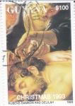 Stamps : America : Guyana :  NAVIDAD´93  SANSON Y DALILA-Rubens