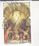 Stamps : America : Guyana :  NAVIDAD´93-PENTECOSTÉS-TIZIANO