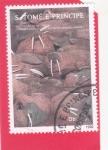 Stamps : Africa : São_Tomé_and_Príncipe :  PROTECCIÓN DE LA NATURALEZA