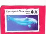 Stamps : Africa : Benin :  Ballena beluga