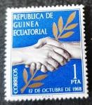 Stamps Equatorial Guinea -  Independencia de Guinea Ecuatorial