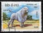 Stamps : Asia : Laos :  Poodle