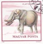 Stamps : Europe : Hungary :  Fauna prehistórica- PLATYBELODON
