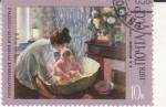 Stamps Russia -  PINTURA-Buenos días, Boris Kustodiev (1904)