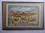 Sellos de America - Venezuela -  Cuatricentenario de la Ciudad de Caracas (1567-1967) - Plaza Mayor