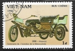 Stamps : Asia : Vietnam :  Coches antiguos - 1898 France