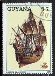 Stamps : America : Guyana :  Veleros - Grande Francoise