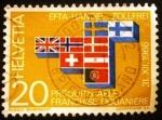 Sellos de Europa - Suiza -  Franquicia aduanera