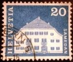 Stamps Switzerland -  Edificios.Planta House, Samedan