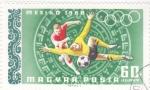 Stamps : Europe : Hungary :  OLIMPIADA MEXICO