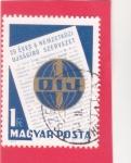 Stamps : Europe : Hungary :  25 aniversario Asociación Internacional de Periodistas