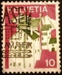 Stamps Switzerland -  Paisajes. Splügen (Graubünden)