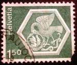 Stamps Switzerland -  Arquitectura. Roof medallion, Monastery Museum, Stein a. Rhine