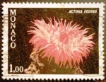 Stamps Monaco -  Corales. Actinia equina