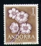 Stamps Andorra -  dianthus caryophyllus