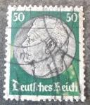 Stamps Germany -  Paul von Hindenburg (Imperio Alemán)