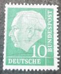 Sellos de Europa - Alemania -  1º Presidente, Theodor Heuss