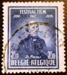 Stamps Belgium -  Festival de cine de Bruselas, Joseph Plateau