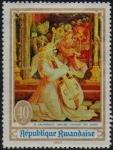 Stamps : Africa : Rwanda :  Pintura, arte y música, Concierto de ángeles de Matthias Grunewald