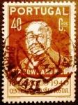Stamps Portugal -  Centenario sello postal. Sir Rowland Hill