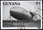 Sellos de America - Guyana -  150 aniversario del nacimiento de Zeppelin, dirigible naval LZ 92, 1916