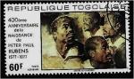 Stamps Togo -  Peter Paul Rubens, 400 aniversario del nacimiento, jefes de hombres negros