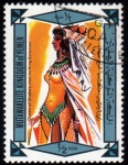 Sellos del Mundo : Asia : Yemen : Visita de la Reina de Saba al Rey Salomon-1968