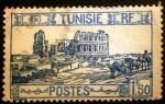 "Stamps Tunisia -  Túnez Francés. Anfiteatro Romano de ""El Jem"""