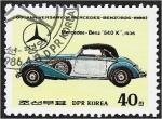 Sellos de Asia - Corea del norte -  60 aniversario de Mercedes-Benz, Mercedes Benz 540K, 1936.