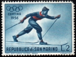 Stamps Europe - San Marino -  Olimpiada de invierno Cortina d´Ampezzo-1956