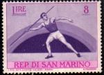 Sellos del Mundo : Europa : San_Marino : Lanzamiento de Jabalina