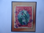 Stamps Guatemala -  UPU - Quetzal (Pharomachius mocinno)- Sello de 3 Ctvs, año 935