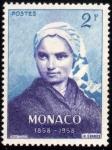 Sellos del Mundo : Europa : Mónaco : Centenario aparicion de la Virgen de Lourdes-1958