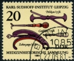 Stamps : Europe : Germany :  Historia Medicina