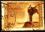 Stamps Argentina -  Centenario de la muerte de José Francisco de San Martín