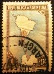 Stamps Argentina -  Mapa Antártico de Argentina