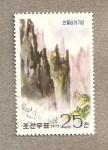 Sellos de Asia - Corea del norte -  Paisajes de las montañas Diamante