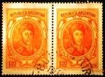 Stamps Argentina -  General José de San Martín (1778-1850)